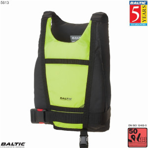 Paddler kano / kajak vest-UV-Gul/Sort-Small-58-87 cm. bryst